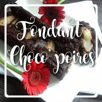 Fondant choco poires sans gluten by kim - cuisinouverte.com