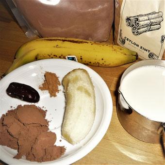 Zutaten heisse Schokolade