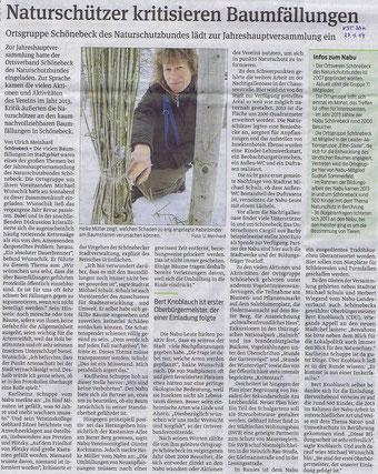 Volksstimme Schönebeck vom 27. Januar 2014 (Ulrich Meinhard)