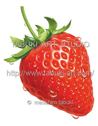 素材イラスト イチゴ いちご 苺 ストロベリー 商用利用 ストックイラスト くだもの シズルイラスト