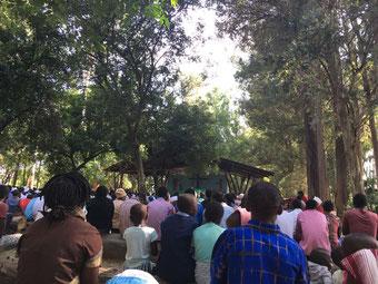 Gottesdienst unter freiem Himmel, Driefontein