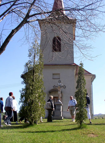Cerkiew murowana poświęcona św. Dymitrowi Męczennikowi we wsi Obručne na Słowacji, widok od wejścia (fot. Anna Bożek)