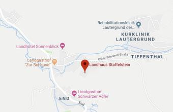 Lage Landhaus Staffelstein 4 Sterne Ferienwohnungen in Bad Staffelstein
