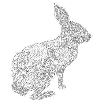 Het mooiste uitgesneden konijn van scrapbookmaken.com