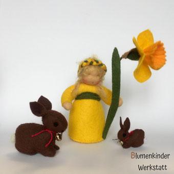 Blumenkinderwerkstatt Osterglocke Osterhase