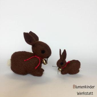 Blumenkinderwerkstatt Osterkind Osterhase Ostereiner