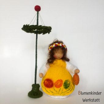 Blumenkinderwerkstatt Osterhase mit Ostereiern