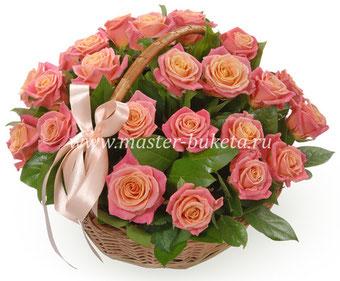 Корзина из роз в Подольске