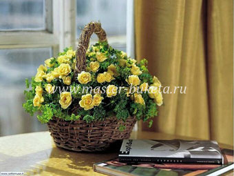 Корзинка с цветами в Подольске