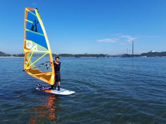 ウインドサーフィン speedwall 海の公園 初心者 スクール 体験