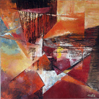 ABSTRACT ARCHITECTURE    huile/toile 100x100