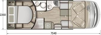Grundriss Mobilvetta K-Yacht Tekno Line 90