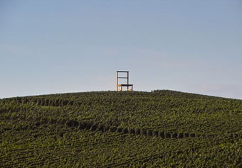 Die Strecke führt auch am Stuhl in Leiselheim vorbei.