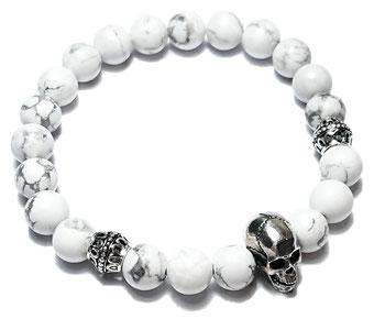 BEHERO Skull (weiß) Armband