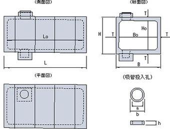 防火水槽 規格図