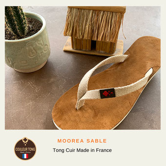 Tong femme made in France