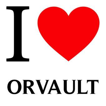 j'aime orvault écrit avec un coeur rouge