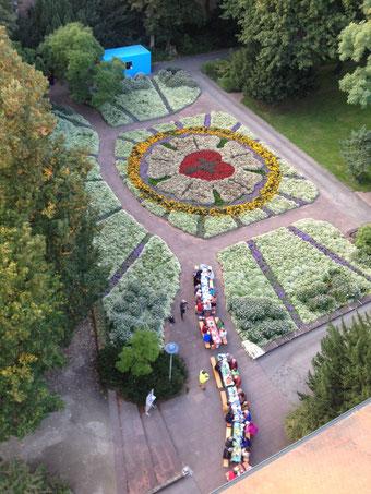 Bei gutem Wetter auch im Freien: hier beim Dîner en couleur am 23.09.2017.