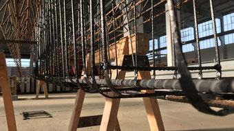Bewehrungskorb aus Carbon (Foto: Hentschke Bau GmbH, Bautzen)