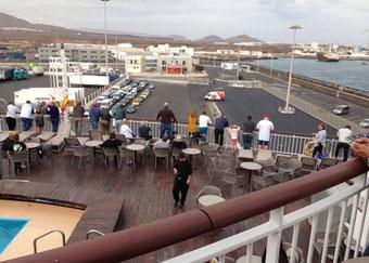 Ankunft am nächsten Nachmittag in Arrecife , Lanzarote. Dann ging es weiter an Fuerteventura vorbei nach Gran Canaria