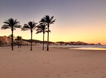 Übernachtung in Cullera, direkt am Strand