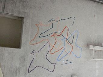 シェイプルームの壁もキャンバスに!