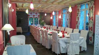 Salle du restaurant la fine fourchette restaurant gastronomique Falaise Normandie