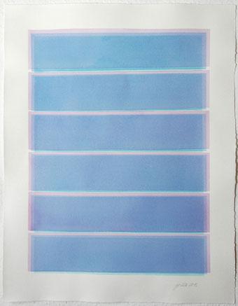 Überlagerung 109 I Tusche auf Büttenpapier I 65 x 50