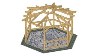Grillpavillon mit Rauchabzug