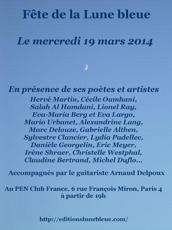 La soirée anniversaire des éditions de La Lune Bleue