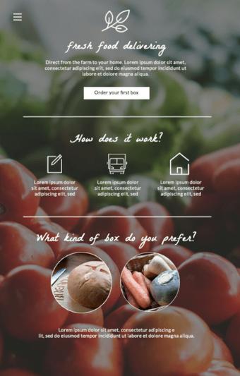 明確な構造と視覚的階層を持つホームページの例