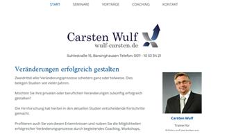 Carsten Wulf, Trainer für Erfolg und Veränderungen
