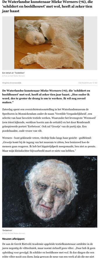 Noordhollands Dagblad 9 oktober 2019