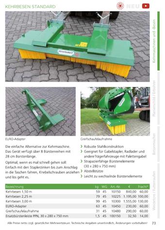 Agro-Widmer Stalleinrichtungen - Kehrbesen Standard