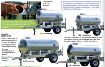 Agro-Widmer Stalleinrichtungen - Wasserfässer auf Fahrgestell von Padelou Galva