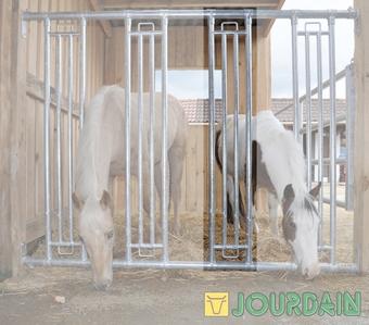 Agro-Widmer Stalleinrichtungen - Pferdefressgitter-Module Jourdain
