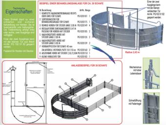 Agro-Widmer Stalleinrichtungen - Beispiel Behandlungsanalge für Schafe  von Pasdelou