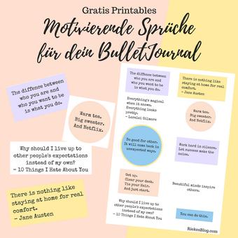Postvorschlag 2: Motivierende Sprüche für dein BulletJournal RiekesBlog.com
