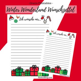 Titelbild. Winter Wonderland Wunschzettel