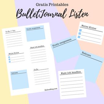 Postvorschlag 2: BulletJournal Listen Gratis Printable