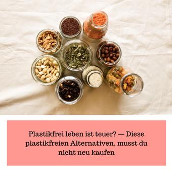 Postvorschlag 2: Plastikfrei leben ist teuer? — Diese plastikfreien Alternativen, musst du nicht neu kaufen