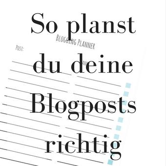 Titelbild: So planst du deine Blogposts richtig