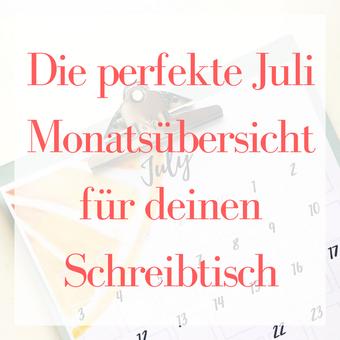 Postvorschlag 2: Die perfekte Monatsübersicht für deinen Schreibtisch