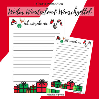 Vorschau: Winter Wonderland Wunschzettel