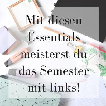 Postvorschlag 2: Mit diesen Essentials meisterst du das Semester mit links!