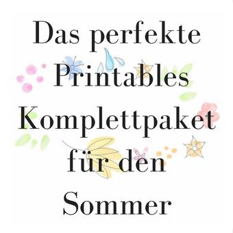 Titelbild: Dasperfekte Printables Komplettpaket für den Sommer