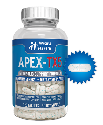 APEX TX5 - Fat Burning Weight Loss Diet Pills That Work - 120 White/Blue Tablets  cuerpazo.net