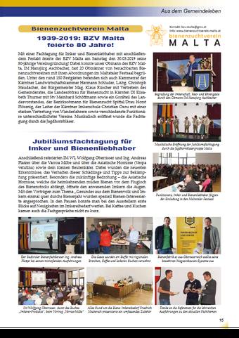 Beiträge BZV Malta in Maltataler Gemeindezeitung