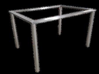 Estructura o bastidor para mesa a medida en acero inoxidable