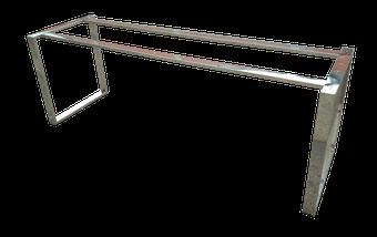 Estructura para mesa en acero inoxidable pulido brillo
